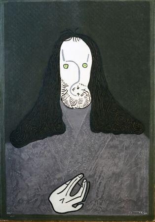 エッチング Ortega - Ritratto mistico di monaco