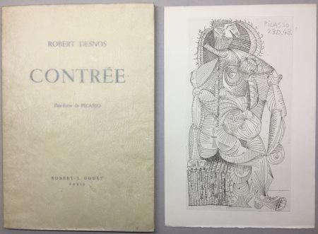挿絵入り本 Picasso - Robert Desnos. CONTRÉE.