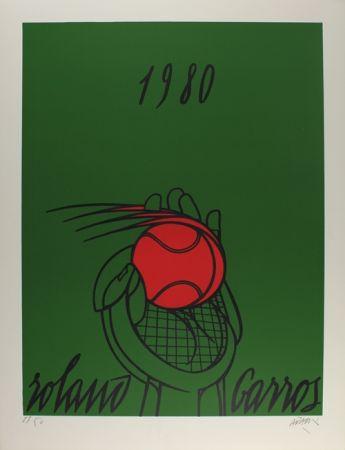 リトグラフ Adami - Roland Garros (vert)