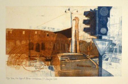 エッチング Staufner - Rom, Via Kapo d'Africa – Kolosseum