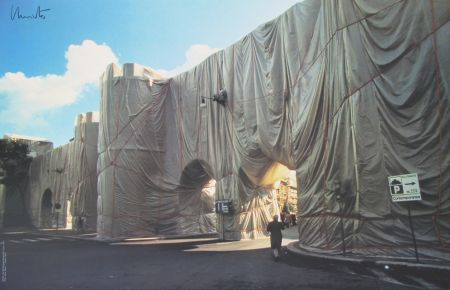 オフセット Christo - Roman Wall wrapped
