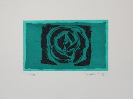 エッチングと アクチアント Hernandez Pijuan - Rosa Verda / Green Rose