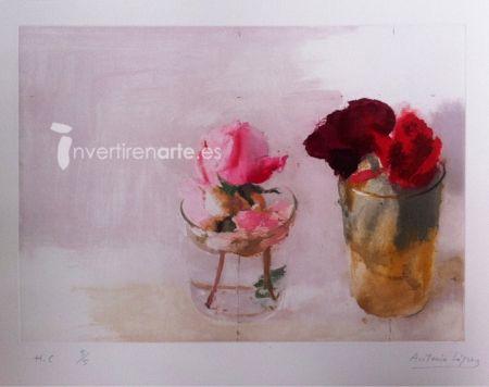 彫版 López Garcia - Rosas de invierno 1