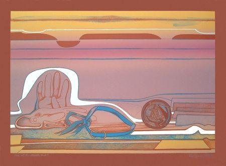 リトグラフ Gilot - Rose of the Desert