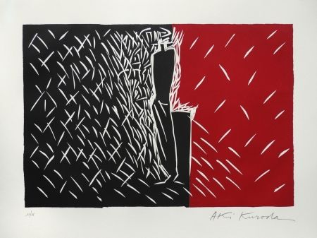 リノリウム彫版 Kuroda - Rouge et noir