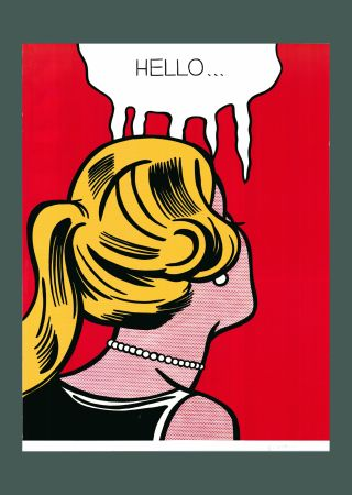 リトグラフ Lichtenstein - Roy Lichtenstein 'Cold Shoulder', Original Pop Art Poster, Hand Signed, 1987