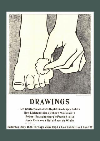 リトグラフ Lichtenstein - Roy Lichtenstein 'Foot Medication (Castelli Mailer)', 1963 Hand Signed Original Pop Art Poster with COA