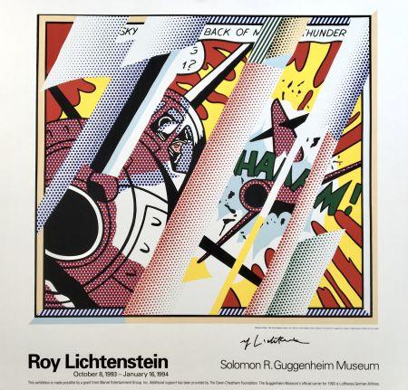 リトグラフ Lichtenstein - Roy Lichtenstein 'Reflections: Whaam!' 1993 Hand Signed Original Pop Art Poster