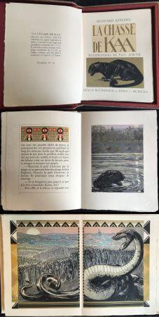 挿絵入り本 Jouve - Rudyard Kipling : LA CHASSE DE KAA. Illustrations de Paul Jouve (1930)
