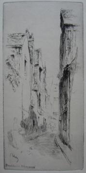 彫版 Leheutre - Rue du Petit Gars, à Tours
