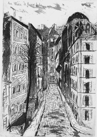 エッチングと アクチアント Sassu - Rue elisèe de Beaux-Arts
