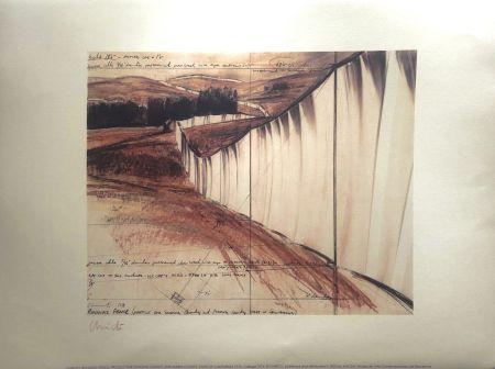 リトグラフ Christo - RUNNING FENCE MACBA BARCELONA 56X76