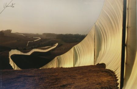 オフセット Christo - Running Fence, Sonoma and Marin Counties, California