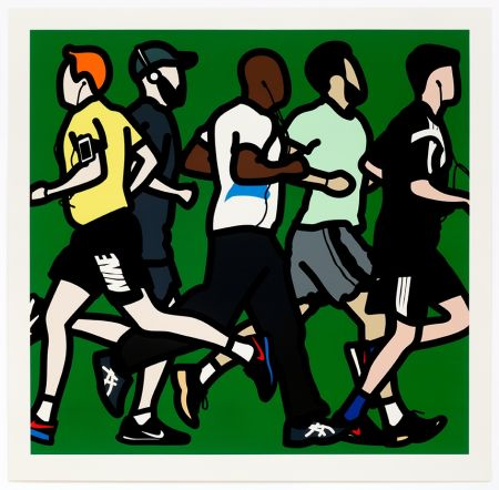 シルクスクリーン Opie - Running Men
