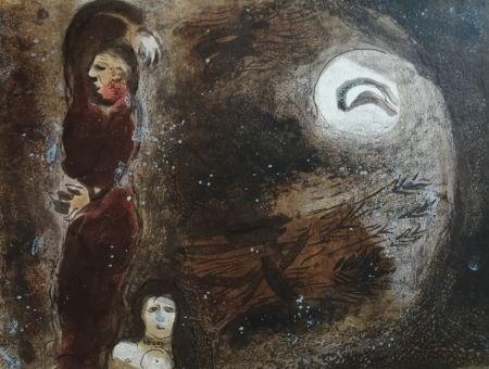 リトグラフ Chagall - Ruth aux pieds de Booz