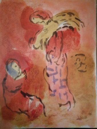 リトグラフ Chagall - Ruth glaneuse