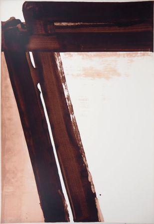 シルクスクリーン Soulages - Sérigraphie n°15