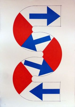 リトグラフ Sugai - S (flèches bleues)