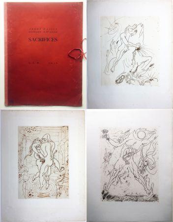 エッチング Masson - SACRIFICES avec un texte de Georges Bataille (GLM 1936).