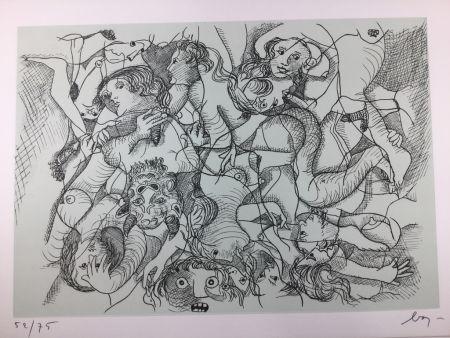 エッチング Baj - Sade in Italy - complete folder ( 8 erotic etchings )