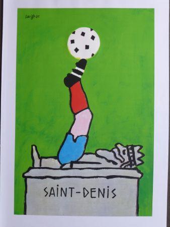 掲示 Savignac - Saint Denis (coupe du monde de football) 1998