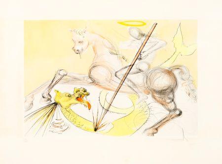 エッチング Dali - Saint Georges et le Dragon