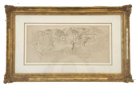 技術的なありません Dufy - Saint Paul de Vence (c. 1925)
