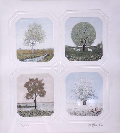 エッチング Hauck - Saisons des Arbres - Season Trees