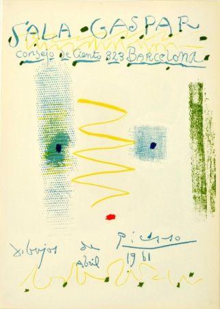 リトグラフ Picasso - Sala Gaspar. Dibujos de Picasso
