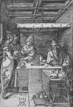 木版 Durer - Salome Presenting the Head of John the Baptist to Herodias