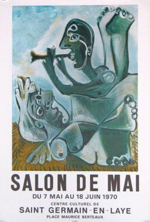 リトグラフ Picasso - '' Salon de Mai ''
