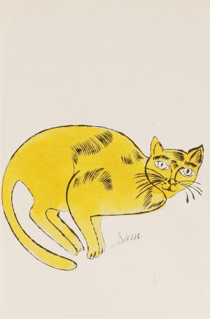 リトグラフ Warhol - Sam (From 25 Cats named Sam and one blue Pussy, FS IV. 67A.)