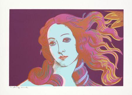 シルクスクリーン Warhol - Sandro Botticelli, Birth of Venus, 1482 (FS II.317)