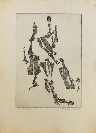 彫版 Celan Lestrange - Sans titre