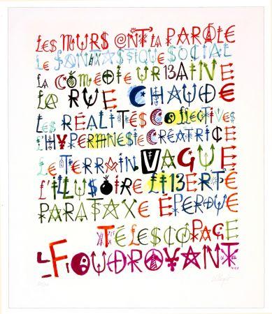 デジタル版画 Villeglé - Sans titre