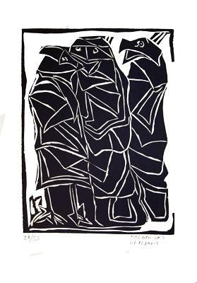 リノリウム彫版 Gérédakis - Sans titre 1
