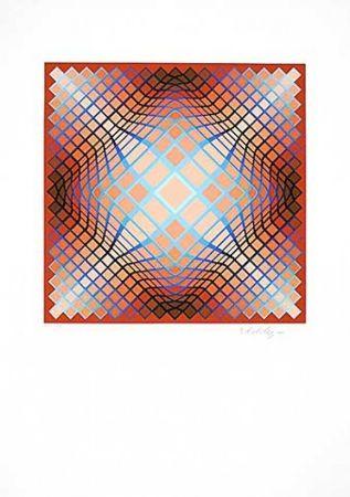 リトグラフ Vasarely - Sans Titre 2