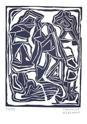 リノリウム彫版 Gérédakis - Sans titre 5