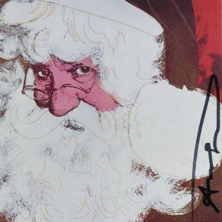シルクスクリーン Warhol - Santa Claus