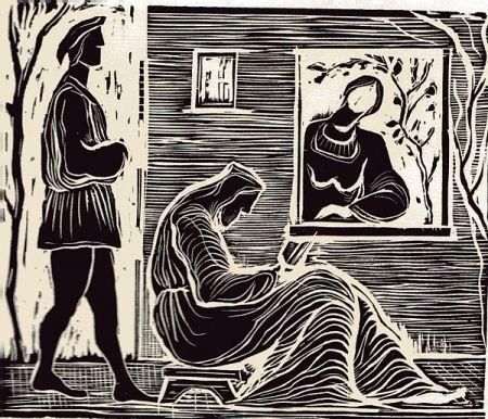 挿絵入り本 Stoppa - Sant'Abraam Romito e la Nipote Maria