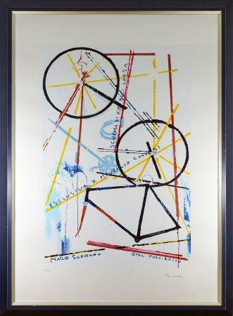 シルクスクリーン Schifano - Schema di kit bici da corsa