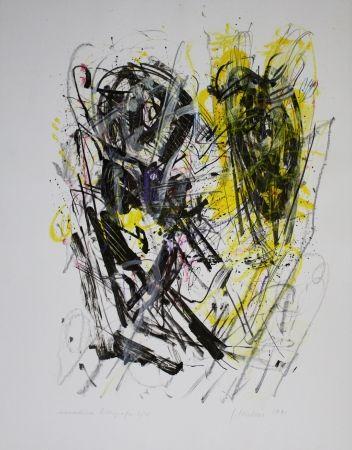 リトグラフ Czichon - Schwarz - Gelb / Black - Yellow