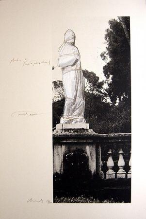リトグラフ Christo - Schweiz Verpackte Venus-Villa Borghese