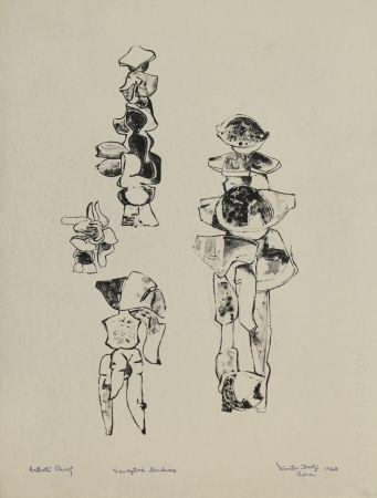 リトグラフ Hadzi - Sculpture Studies