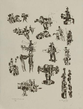 リトグラフ Hadzi - Sculpture Studies V