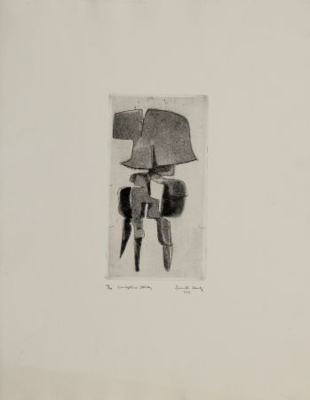 エッチングと アクチアント Hadzi - Sculpture Study