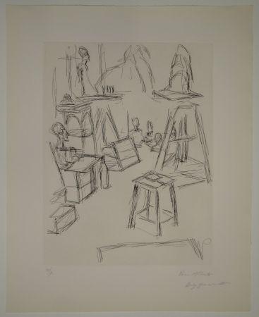 エッチング Giacometti - Sculptures dans l'atelier VI / Les Sculptures (Sculptures).