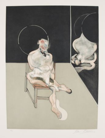 エッチングと アクチアント Bacon - Seated Figure