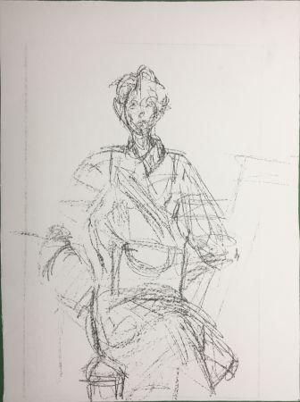 リトグラフ Giacometti - Seated Figure (Derrière le Miroir n°127. 1961. Deluxe)