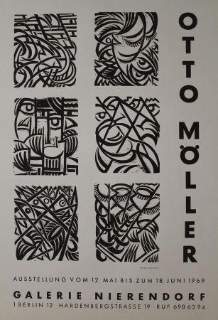 木版 Möller - Sechs Original-Holzschnitten zu Dostojewskij: